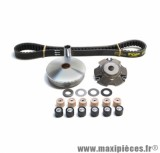 Variateur / Vario scooter Top Perf avec courroie pour Piaggio 50 nrg, Typhoon / gilera 50 runner, stalker, ice, dna (galets de 19x15,5mm)