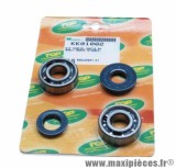 Roulement d'embiellage / vilo + joint scooter Top Perf pour mbk 50 booster, nitro / yamaha 50 bws, aerox / aprilia 50 sr / cpi 50 aragon / generic 50 ideo / keeway 50 focus (kit 6204 skf)
