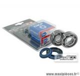 Kit roulement avec joints spy, cage acier, marque Stage 6 C4 pour Piaggio NRG / Gilera Stalker