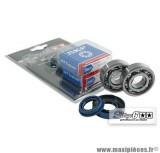 Kit roulement avec joints spy, cage acier, marque Stage 6 C4 pour MBK Nitro / Booster