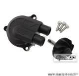 Couvercle de pompe à eau Stage 6 «Racing» + volute haute pression (+40%), couleur noir mat pour MBK Nitro/Aerox