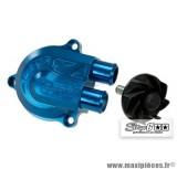 Couvercle de pompe à eau Stage 6 «Racing» + volute haute pression (+40%), couleur bleu anodisé pour MBK Nitro/Aerox