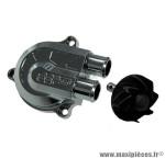 Couvercle de pompe à eau Stage 6 «Racing» + volute haute pression (+40%), couleur chromé pour MBK Nitro/Aerox