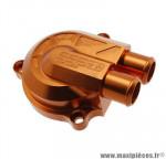 Couvercle de pompe à eau Stage 6 «Racing» + volute haute pression (+40%), couleur orange pour MBK Nitro/Aerox