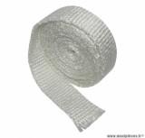 Bande de fibre de verre special reparation pot d'echappement blanc (rouleau de 5 m) pièce pour Scooter, Mécaboite, Mobylette, Maxi Scooter, Moto, Quad