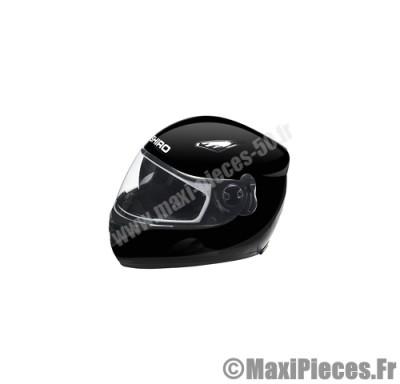casque intégral shiro sh-830 motorland uni noir brillant taille xs (double écran)