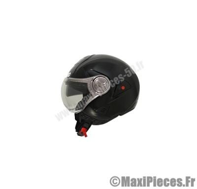 casque jet shiro sh-80 naked noir brillant taille s (demi-jet et double écran)