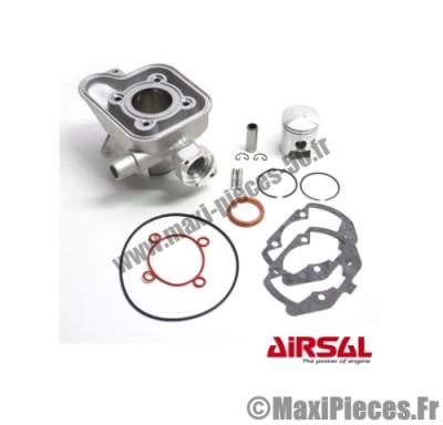 kit cylindre piston 50cc airsal alu nikasil pour peugeot jet force c-tech 50 lc 2t jet force tsdi ludix blaster ( refroidissement liquide ) ...