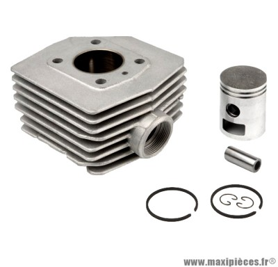 kit cylindre piston airsal t6 alu 6 transferts pour mbk 51 (av 10 av 51 ).