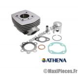 kit cylindre piston monosegment athena alu pour peugeot 103 air