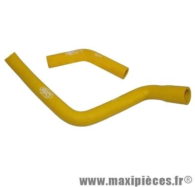 Durite d'eau silicone mtkt jaune pour derbi senda euro3 (livré par 2)