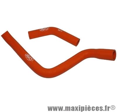 Durite d'eau silicone mtkt orange pour derbi senda euro3 (livré par 2)