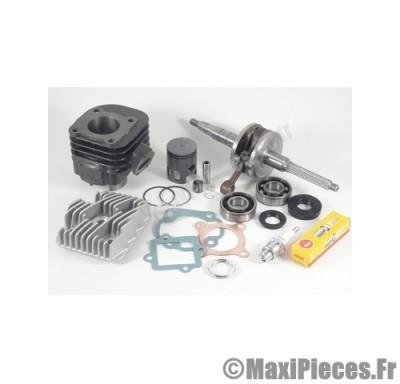 pack 50cc kit moteur complet type origine (haut moteur fonte, vilo renforcé, roulement, joint...)pour:mbk ovetto mach-g yamaha jog neos aprilia sr rally malaguti f10 f12 f15...