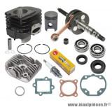 Pack 50cc kit moteur complet type origine (haut moteur, vilo, joint...)pour: GY6 1E40QMB (axe 10) cpi, hussar, oliver, popcorn, keeway, ect..