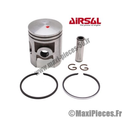 piston + segment + axe et clips pour cylindre airsal d40 de booster stunt rocket spirit next yamaha bws ng spy ...(50cc 2t air)