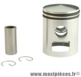 Kit piston segment axe clips adaptable a l'origine pour mbk 51