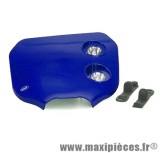 Tête de fourche plaque phare enduro bi halogène pour moto 50 à boite (bleu)