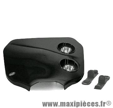 Tête de fourche plaque phare enduro bi halogène pour moto 50 à boite (noir)