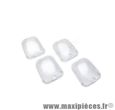 prix discount ! kit de 4 cabochons clignotants blancs pour aprilia rs rx mx(97)