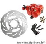 Kit frein a disque Ø180 4 trous étrier double piston adapt booster roue 10