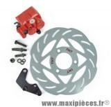 Kit frein a disque Ø240 étrier double piston adapt mbk stunt roues 12 13