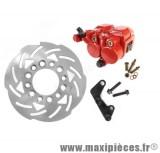Kit frein a disque av Ø190 étrier double piston adapt peugeot speedfight roue 12