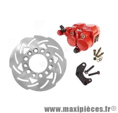 Kit frein a disque Ø180 étrier double piston adapt next avt 99 roue 10