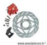 Kit frein a disque Ø240 4 trous étrier double piston adapt booster roues 12 13
