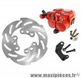 Kit frein a disque Ø190 étrier double piston adapt typhoon next 99 roues 10