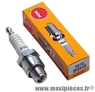 Bougie ngk b9hs pour la majorité des moteurs a refroidissement a air de configuration plus performante (bougie courte)