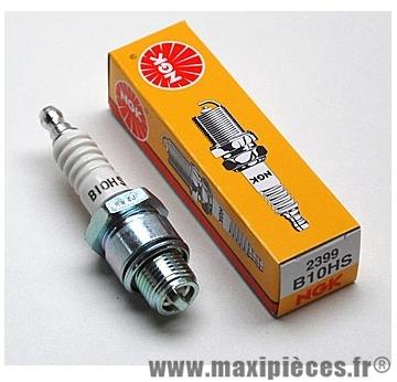 Bougie ngk b10hs pour la majorité des moteurs a refroidissement a air de configuration plus performante (bougie courte) .