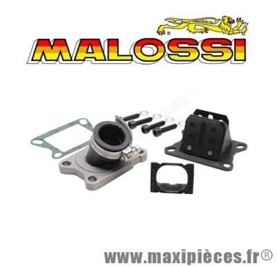 Boite a clapet malossi mhr d15à21 x360 pipe en viton et clapet carbone pour minarelli am6 et moteur derbi 50 a boite euro2 euro3