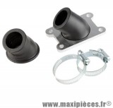 kit pipe admission bride manchon a angle variable adapt: minarelli am6 aprilia rs rx 50 malaguti xsm xtm peugeot xp6 xps yamaha tzr ...