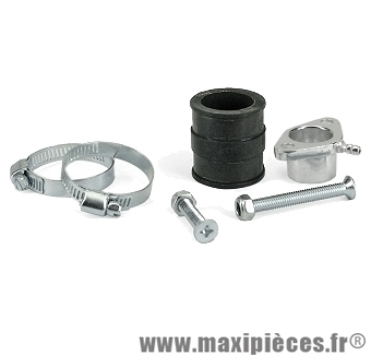 Pipe + manchon pour montage souple pour carburateur 50cc de 12 a 21 mm: peugeot trekker speedfight vivacity buxy zenith