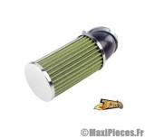filtre a air adaptable diametre28/35 long vert coude 45