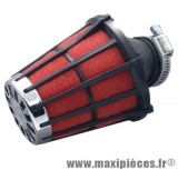filtre a air malossi e 5 adapt speedfight trekker noir mousse rouge