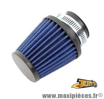 filtre a air kn adaptable diamètre 28/35 bleu