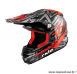 Casque moto cross Voodoo Ride Icon SC15 taille M (T57-58) couleur rouge