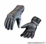 Gants moto mi-saisons cuir Steev Idaho 2018 taille XXXL (T13) couleur noir
