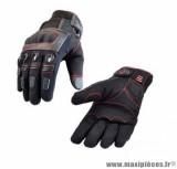 Gants moto hiver Steev Moscova 2018 taille L (T10) couleur noir/rouge