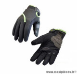 Gants moto hiver Steev Oural 2018 taille M (T9) couleur noir/vert fluo