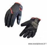 Gants moto hiver Steev Oural 2018 taille S (T8) couleur noir/rouge