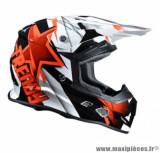 Casque moto cross Trendy 18 T-902 Dreamstar taille S (T55-56) couleur blanc/noir/rouge verni