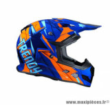 Casque moto cross Trendy 18 T-902 Dreamstar taille S (T55-56) couleur bleu/orange verni