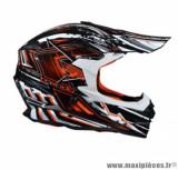 Casque moto cross Trendy 18 T-901 Shortcut taille XXL (T63-64) couleur noir/blanc/rouge verni