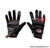 Gants moto été Steev MX V2 2018 taille M (T9) couleur noir/rouge