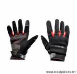 Gants moto été Steev Chicago V2 2018 taille XS (T7) couleur noir/rouge