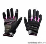 Gants moto été Steev Chicago V2 2018 taille M (T9) couleur noir/rose