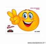 Autocollant/sticker (10x12cm) smiley heureux
