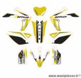 Kit décoration Doppler (planche complète) pour rieju mrt, mrt pro (blanc/noir/jaune)